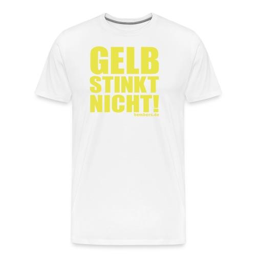 GELB STINKT NICHT! - Männer Premium T-Shirt