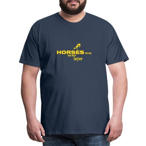 horsesfirst2 - Männer Premium T-Shirt