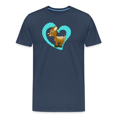 Kira Kitzi Aqua - Männer Premium T-Shirt