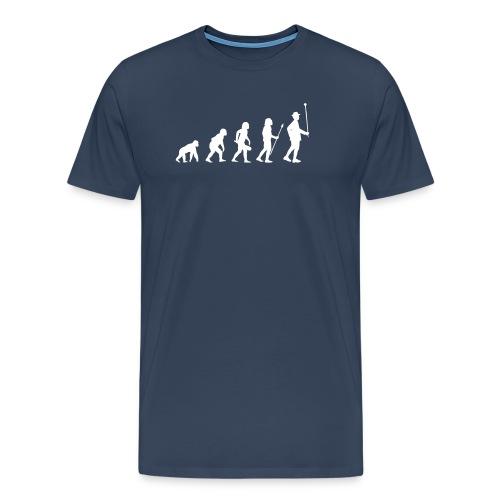 Evolution Stabführer weiß - Männer Premium T-Shirt