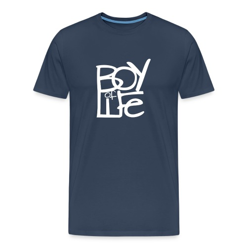 Boy of Life Logo white - Männer Premium T-Shirt