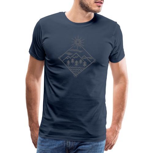 MountainsGrey - Männer Premium T-Shirt