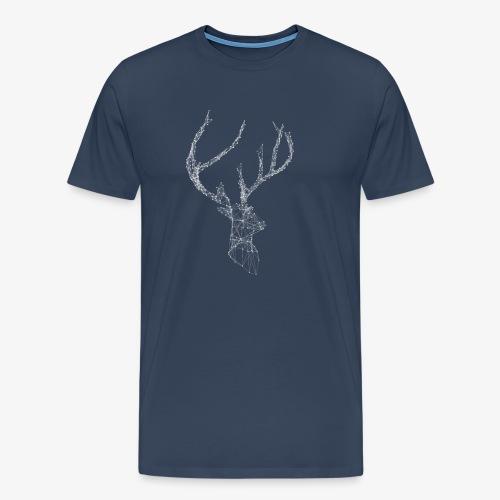 Deer head hertenkop gewei - Mannen Premium T-shirt