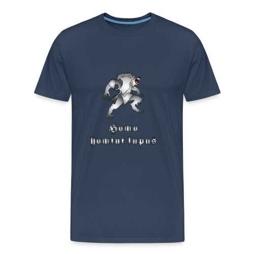 Tipo di lupo mannaro, grigio acciaio - Maglietta Premium da uomo