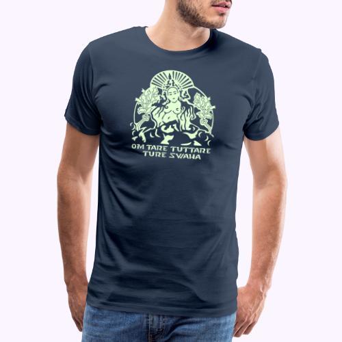 Valkoinen tara - Miesten premium t-paita