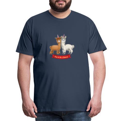 Time to Be a Unicorn 12x14 CMYK - Männer Premium T-Shirt