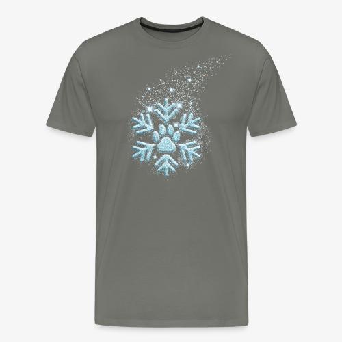 dog paw snowflake - Männer Premium T-Shirt