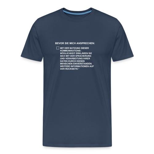 DSGVO Checkbox - Männer Premium T-Shirt