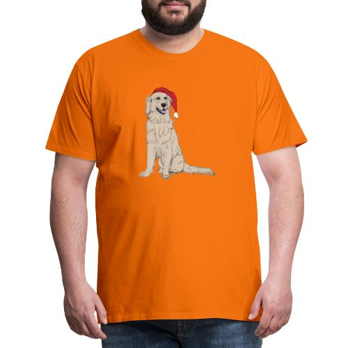 Golden Retriever Christmas - Herre premium T-shirt