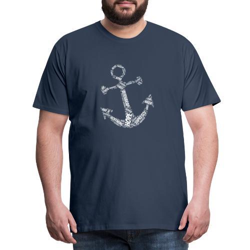 Hoffnung International Anker Symbol - Männer Premium T-Shirt