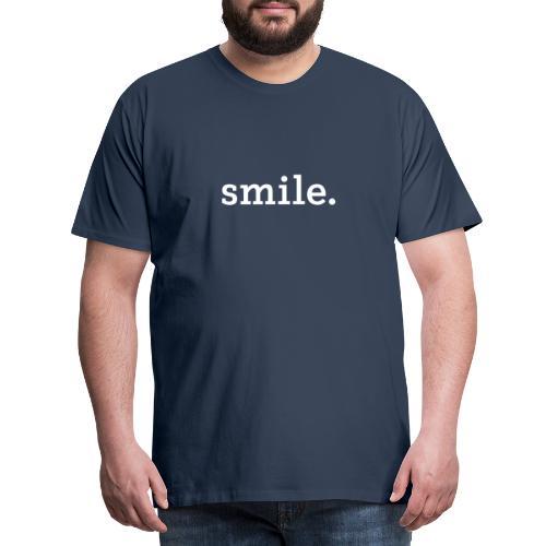 smile. - Miesten premium t-paita