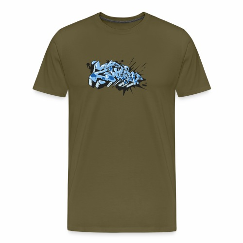 Dae 2Wear graffiti style ver02 LgtBlue edt. - Herre premium T-shirt