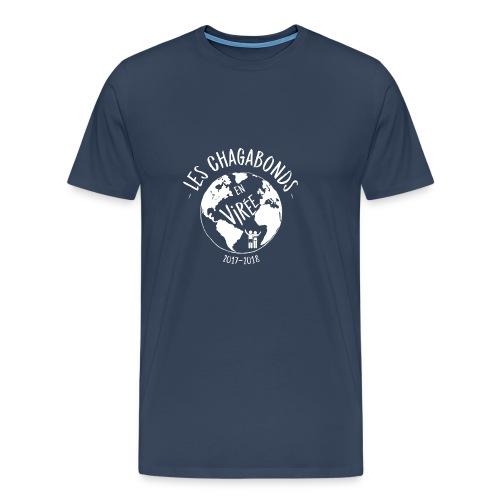 LOGO CHAGABONDS blanc - T-shirt Premium Homme