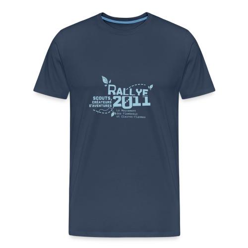 motif bleu - T-shirt Premium Homme