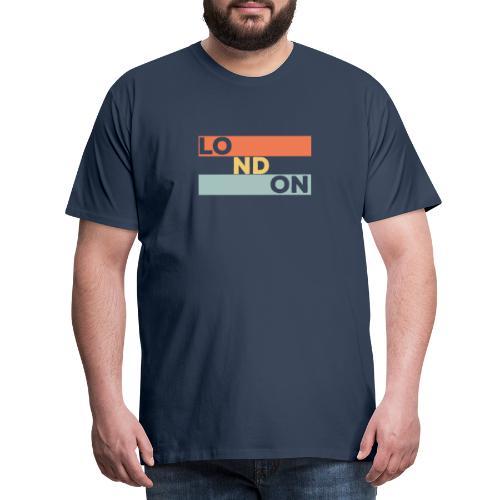 Vintage London Souvenir - Retro Streifen London - Männer Premium T-Shirt