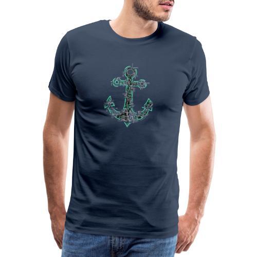 Cyber Anker Tshirt ✅ Elektro Anker Tshirt - Männer Premium T-Shirt