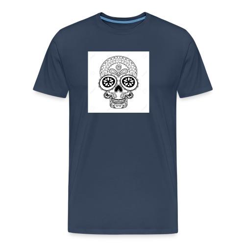 51457190 Disegno a mano Cranio in stile zentangle - Maglietta Premium da uomo