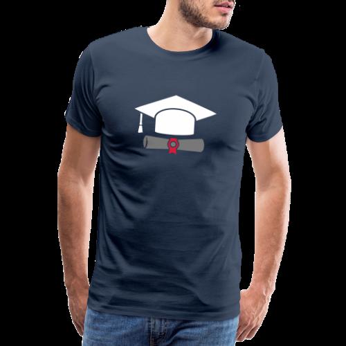 Doktorhut mit Zeugnis - Geschenk zum Abschluss - Männer Premium T-Shirt
