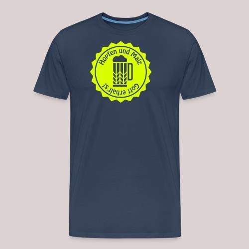 Hopfen und Malz - Gott erhalt's! - Bier - Alkohol - Männer Premium T-Shirt