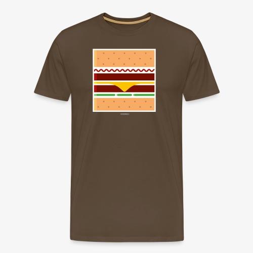 Square Burger - Maglietta Premium da uomo