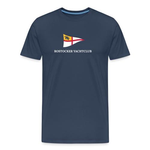 ROYC Logo 3 Farb Dunkel SIMPLE mit Schriftzug - Männer Premium T-Shirt