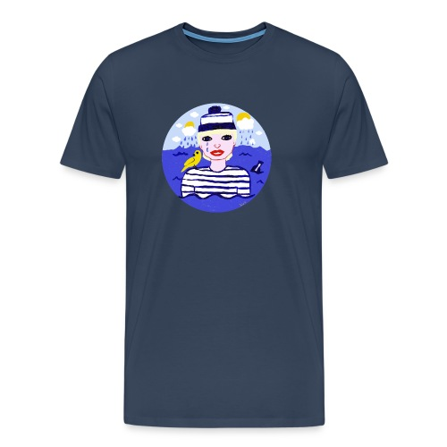 the sailor in love with the sea - Männer Premium T-Shirt