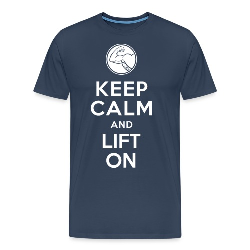 keep calm lift on white png - Herre premium T-shirt