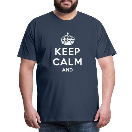 keep calm and clean - Herre premium T-shirt