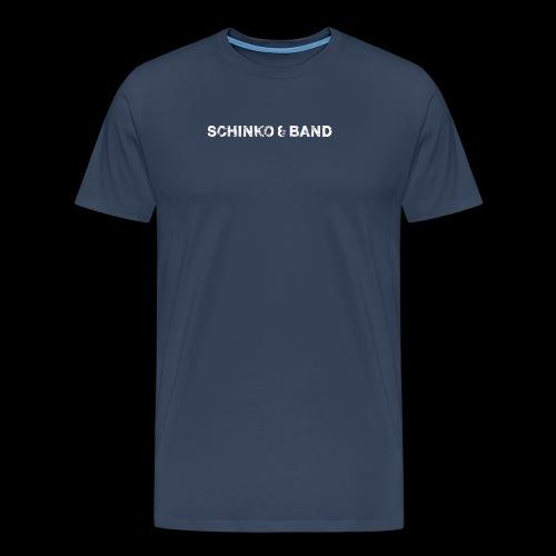 SCHINKO BAND Logo Weiß - Männer Premium T-Shirt