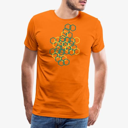 Hexagon Muster - Männer Premium T-Shirt