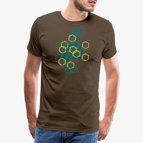 Hexagon Muster - Männer Premium T-Shirt