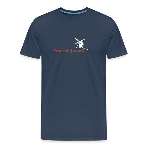 aspectskiwhiteorange - Men's Premium T-Shirt