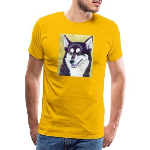 Siberian husky - Herre premium T-shirt
