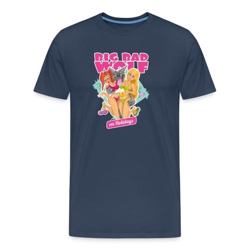 Big Bad Wolf on Holidays - Men's Premium T-Shirt