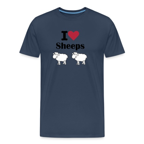 I-love-sheeps - T-shirt Premium Homme