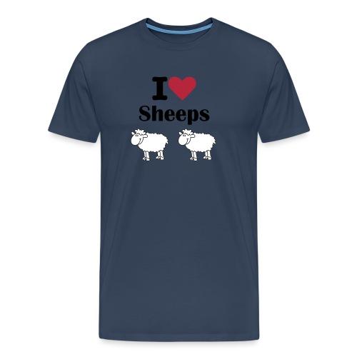 I-love-sheeps - T-shirt Premium Homme
