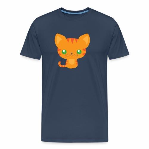 Niedliche Katze mit grünen Augen - Männer Premium T-Shirt