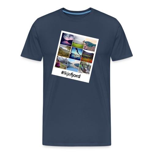 ikjefjord-collage - Premium T-skjorte for menn