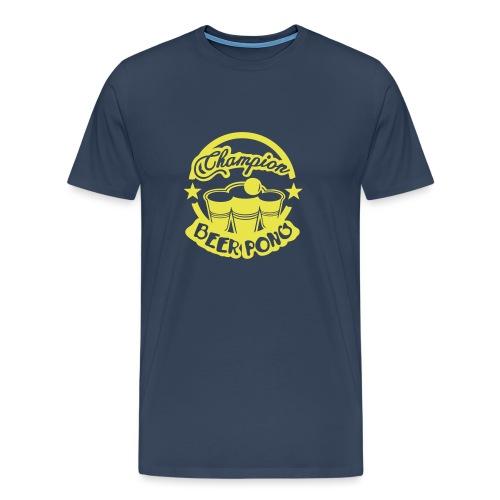 champion beer pong logo vintage1 - T-shirt Premium Homme