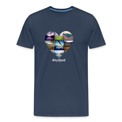hjarte #ikjefjord w - Premium T-skjorte for menn