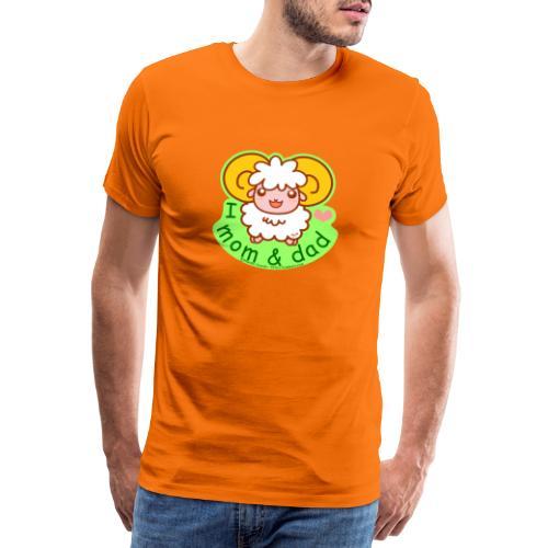 I Love Mom and Dad - Men's Premium T-Shirt