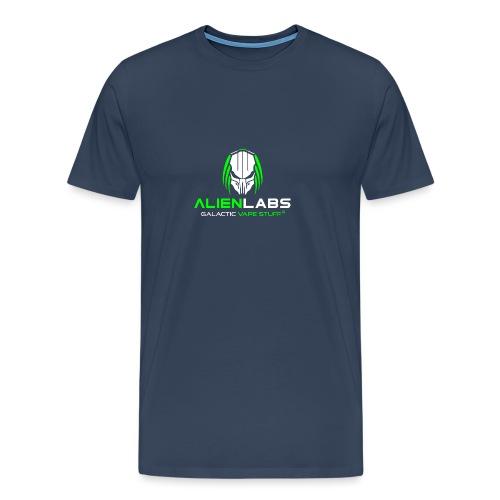 ALIEN LABS LOGO gre/wht - Männer Premium T-Shirt