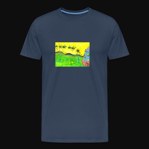 Tortue volante - T-shirt Premium Homme
