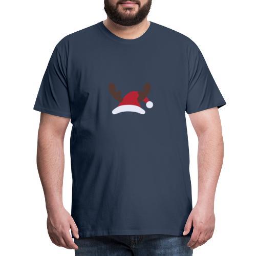 Santa hat Embroidery - Koszulka męska Premium