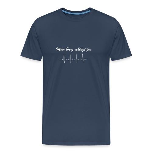 Mein Herz schlaegt fuer - Männer Premium T-Shirt