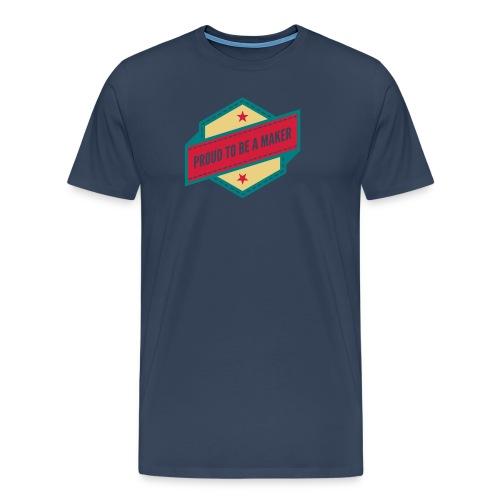 logo Vintage Proud to be a Maker - T-shirt Premium Homme