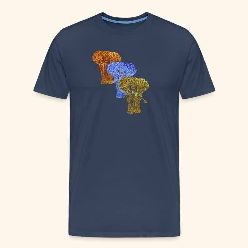 Henna Elephant Mehndi - Men's Premium T-Shirt