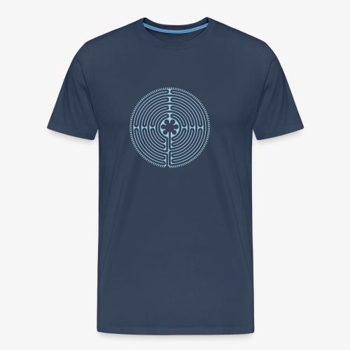 Labyrinth von Chartres - Männer Premium T-Shirt