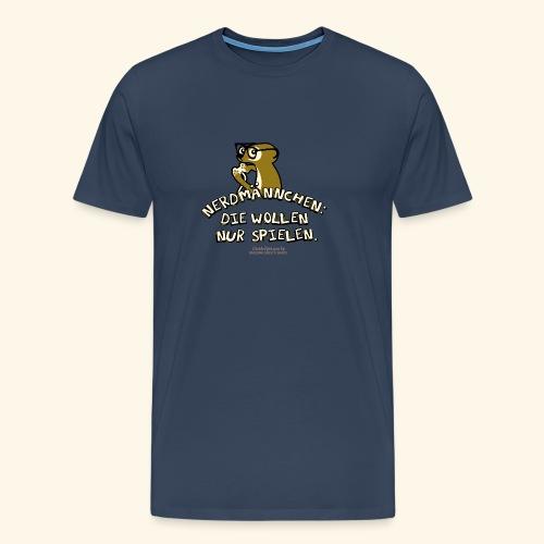 Nerdmännchen Erdmännchen Design für Geeks & Nerds - Männer Premium T-Shirt