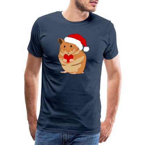 Weihnachtshamster Weihnachten Hamster Geschenk - Männer Premium T-Shirt